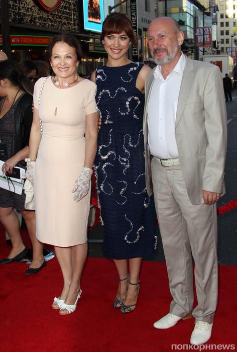 Ольга Куриленко и ее родители