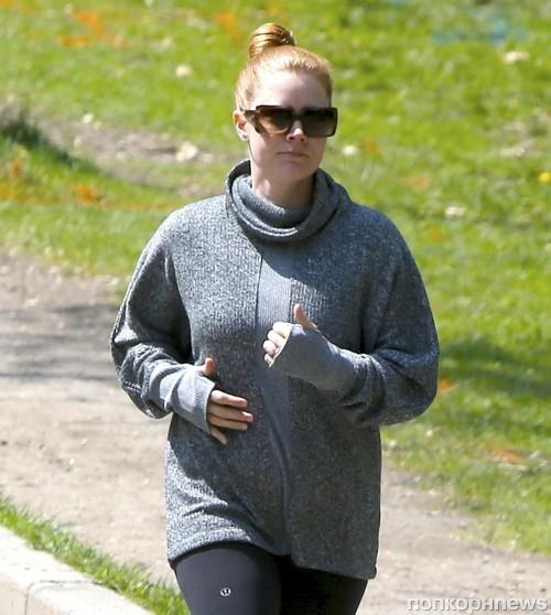 Эми Адамс отправилась на пробежку