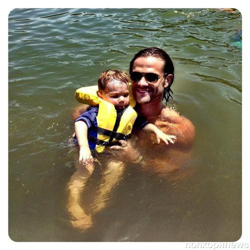 Джаред Падалеки с любимым сыном