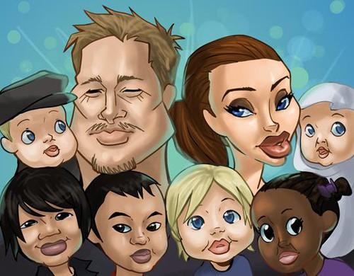 Рождение близнецов Джоли-Питт