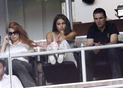 Ирина на игре Real Madrid