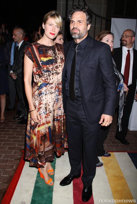 Марк Руффало с женой