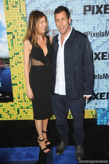 Адам Сэндлер с женой