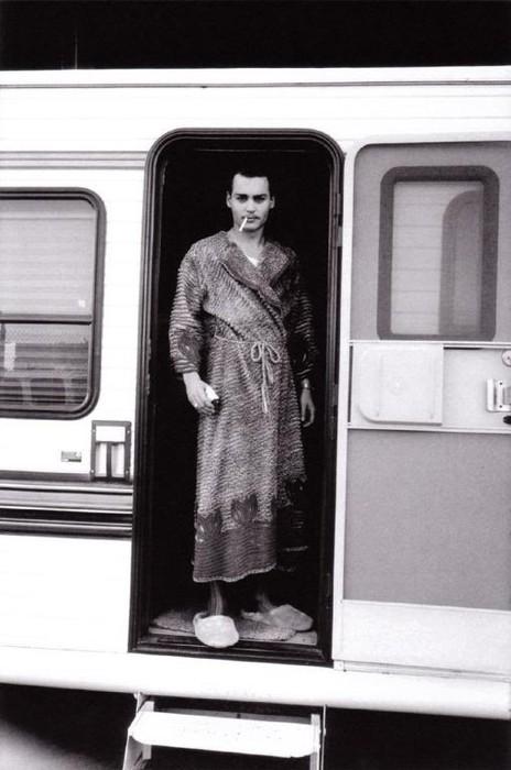 Джонни на съемочной плоащдке Эд Вуда (Ноябрь 1993)