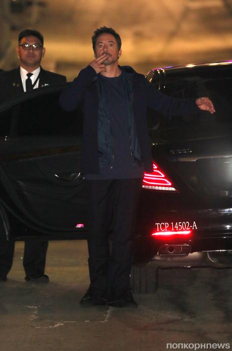 Роберт Дауни младший прибыл на шоу Джимми Киммела