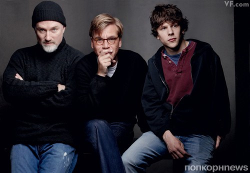David Fincher, Aaron Sorkin, and Jesse Eisenberg