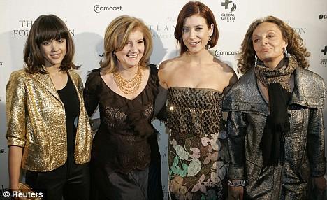 Джессика Альба, Ariana Huffington,  Kate Walsh и Diane von Furstenberg