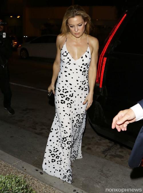 Кейт Хадсон прибыла в ресторан в Западном Голливуде