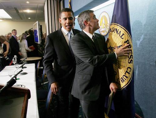 Джордж Клуни и Обама