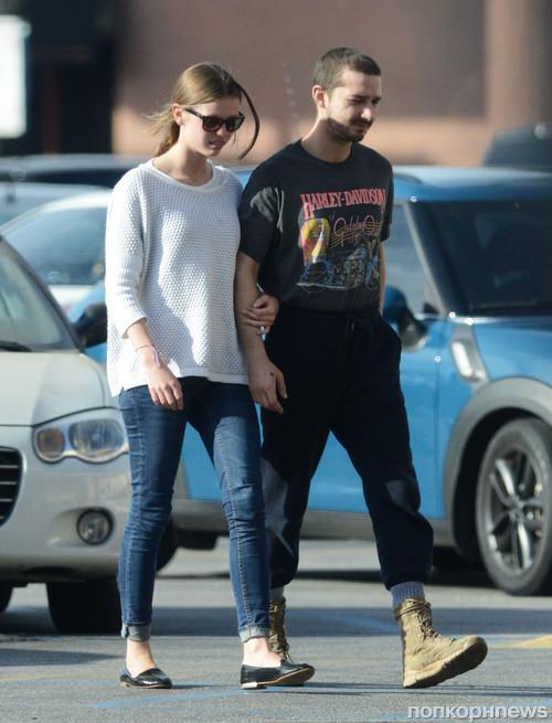 Шайа ЛаБаф гуляет со своей девушкой