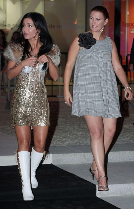 Лучиана Абреу с сестрой Криштиану Роналду