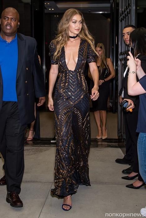 Джиджи Хадид на Неделе моды в Нью-Йорке