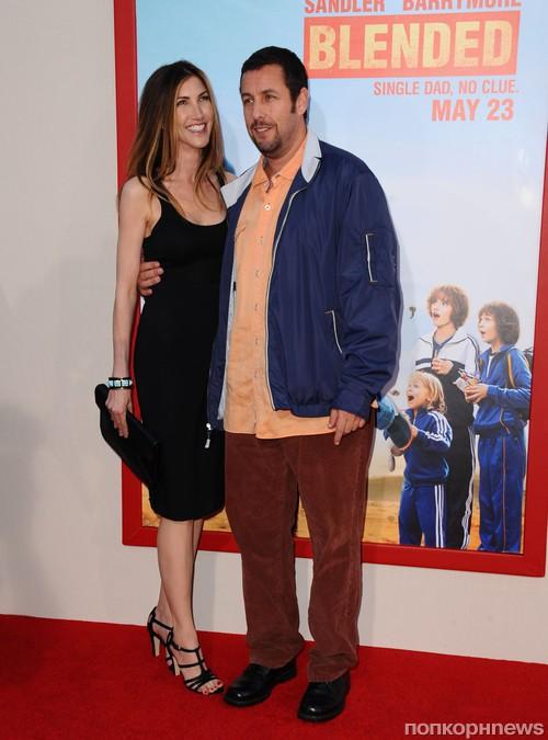 Адам Сэндлер с супругой