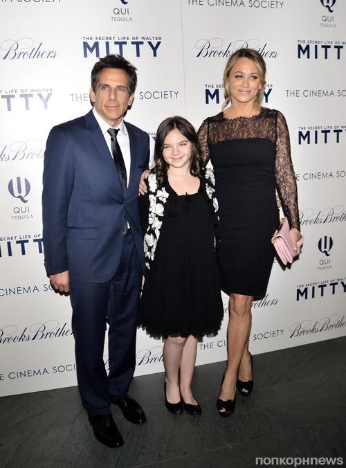 Кристин Тейлор и Бен Стиллер с дочкой