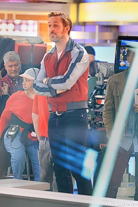 Райан Гослинг прибыл на телестудию в Нью-Йорке