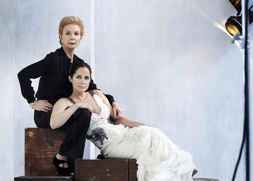 Каролина Херрера и ее дочь