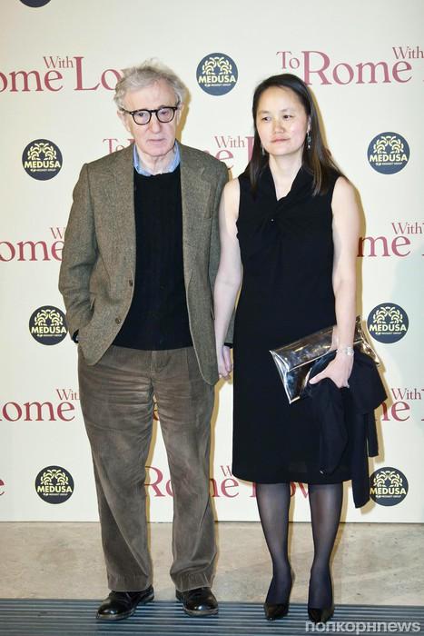 Вуди Аллен с женой Сун-И Превин