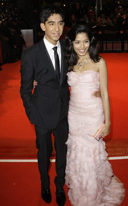 Freida Pinto with Dev Patel