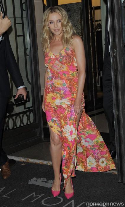 Кайли Миноуг посетила Неделю высокой моды в Париже