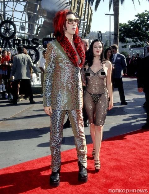 Роуз МакГоуэн и Мэрилин Мэнсон, 1998