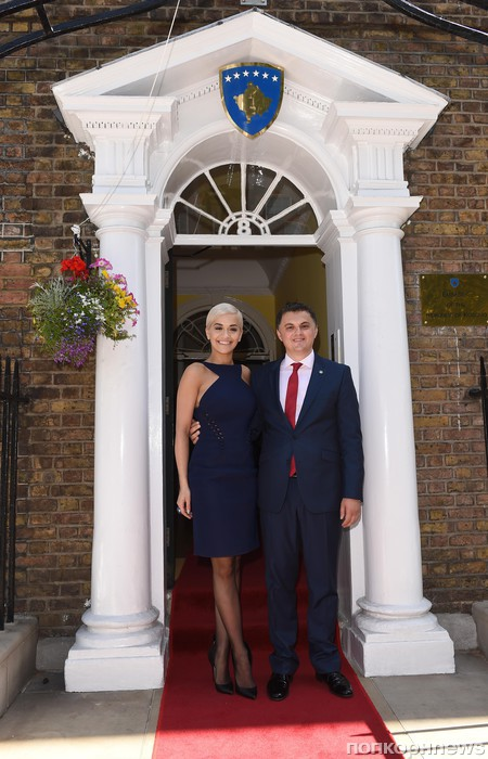 Рита Ора и посол Косово в Великобритании