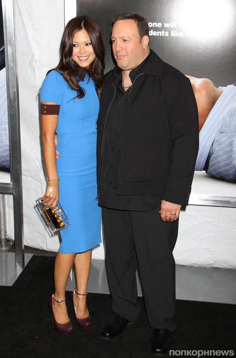 Кевин Джеймс с женой
