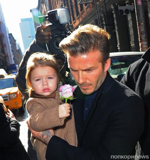 Дэвид Бекхэм прибыл на показ Victoria Beckham