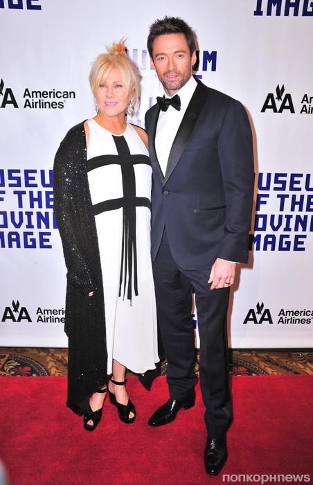 Хью Джекман с женой