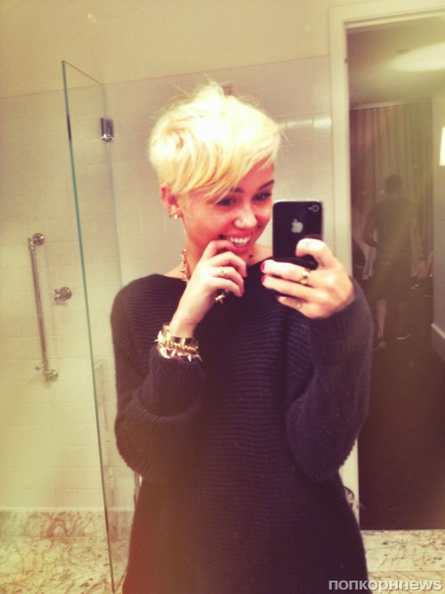 Miley cyrus blonde haircut