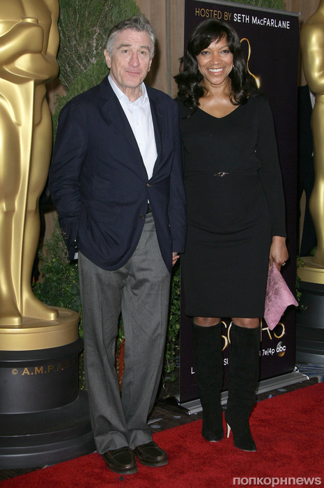 Роберт Де Ниро с женой