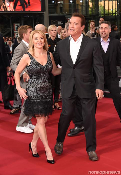 Арнольд Шварценеггер со своей девушкой