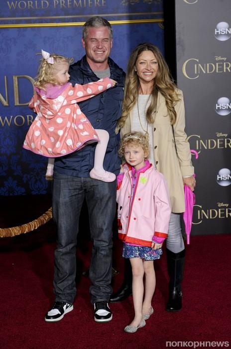 Эрик Дэйн с семьей