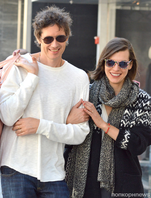 Милла Йовович с мужем