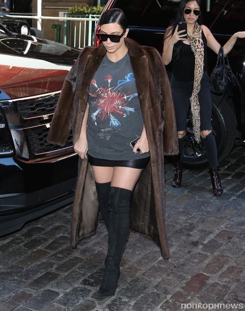 Ким Кардашьян и ее стиль во вторую беременность