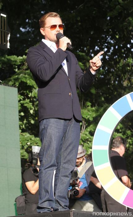 Леонардо Ди Каприо выступает на фестивале  Global Citizen в Нью-Йорке