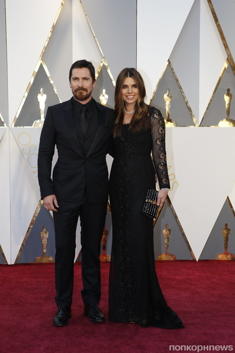 Кристиан Бейл с женой
