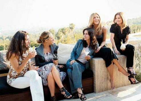 Дженнифер Энистон и ее подруги