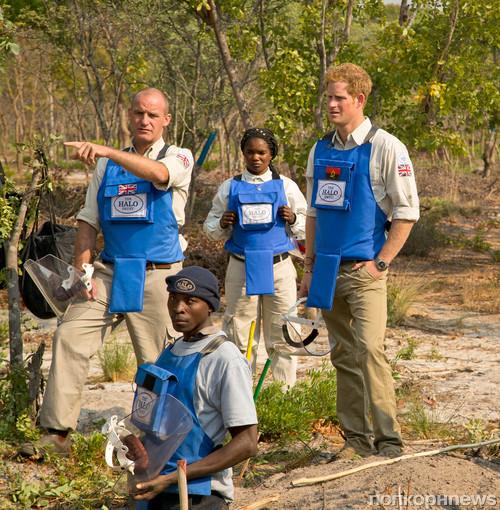 Принц Гарри принял участие в разминировании территорий в Анголе