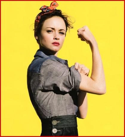 Alexis Bledel в образе Rosie the Riveter