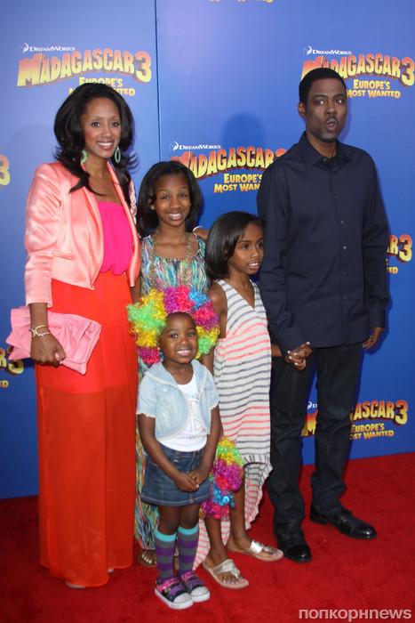 Крис Рок со своей семьей