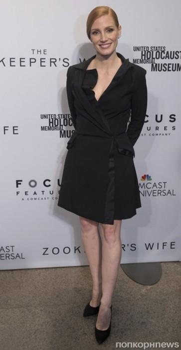 <p></p><br /><P><center>Джессика Честейн на пресс-показе «Жена хранителя зоопарка» в Нью-Йорке</center>
