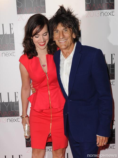 Ронни Вуд с женой