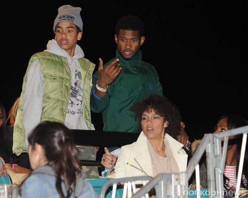 Usher с друзьями