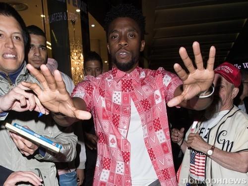 Чедвик Боузман на Неделе мужской моды в Париже