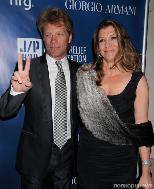 Джон Бон Джови с женой