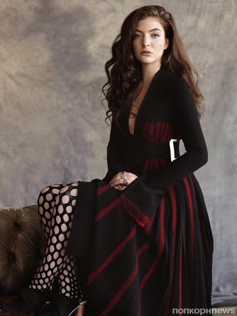 Фото певицы Лорд (Lorde) для выпуска модного журнала Vogue Australia июль 2015