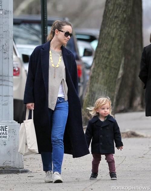 Оливия Уайлд замечена в Бруклине с сыном и подругой