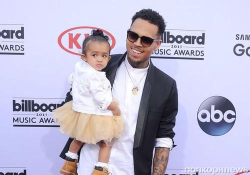 Крис Браун с дочкой
