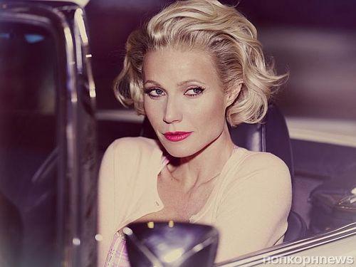 Гвинет Пэлтроу в образе Мэрилин Монро на съемках рекламной кампании Max Factor