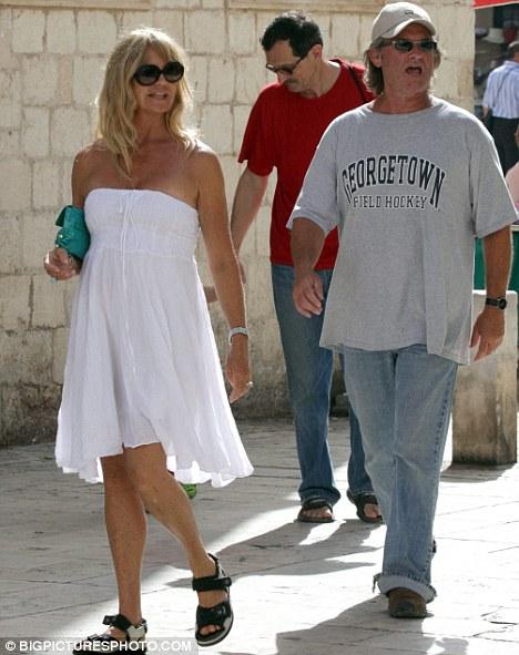 Курт Рассел и Голди Хоун показывают свою вечную любовь